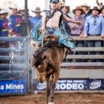 Brigalow Cowboy Steven Hay in the ADG Corporaton Super Hero Bronc Ride